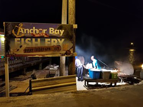 The Fish Fry gets hopping after dark