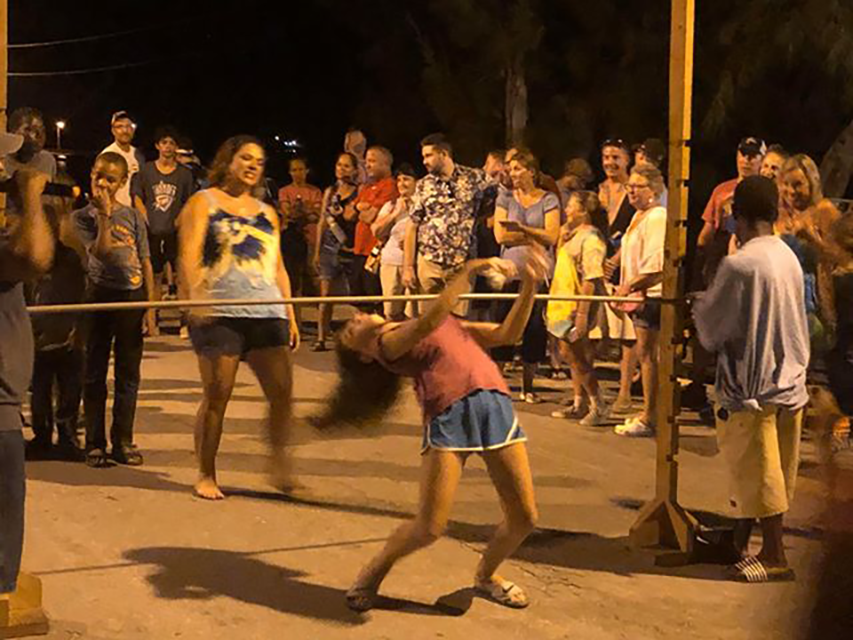limbo dancing at anchor bay fish fry governor's harbour